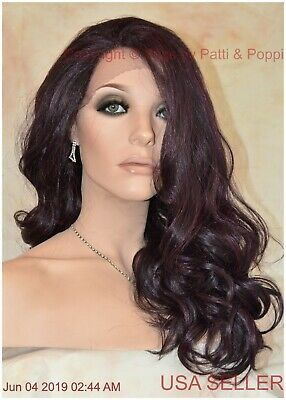 Swiss Lace Front  Long Wavy Heat Friendly Wig 99J  Sexy 1363