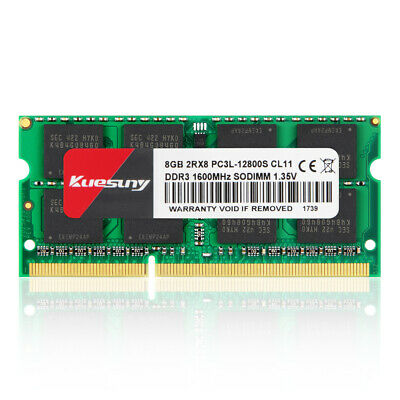 Crucial 8GB DDR3 1600MHz PC3L-12800 1600 204pin Sodimm Laptop Memory RAM @MY