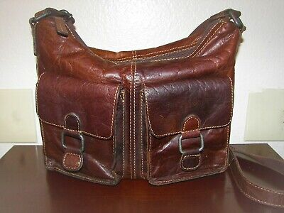 9f0c7b060 Jack Georges VOYAGER COLLECTION Brown Leather Crossbody Messenger Hobo Bag  11x10