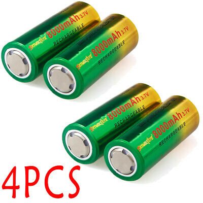 8000mAh 26650 Battery 3.7V Li-ion Rechargeable Battery Bat For Torch Flashlight□