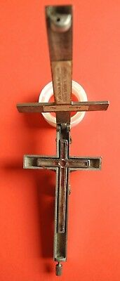 Catolic relic relics reliquary ANTIQUE HOLY CROSS CRUCIFIX CHRIST PENDANT