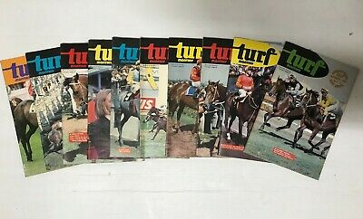 Turf Monthly Horse Racing Magazine Lot Of 10 - Jan- March, May - July, Aug - Dec