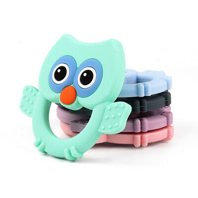 Infant Baby Teether Food Grade Silicone Chewable Soother Teething Toy Owl