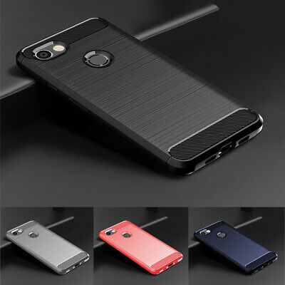 Slim Fiber Carbon Cover Brushed Silicone TPU Phone Case For Google Pixel 3a 4 XL
