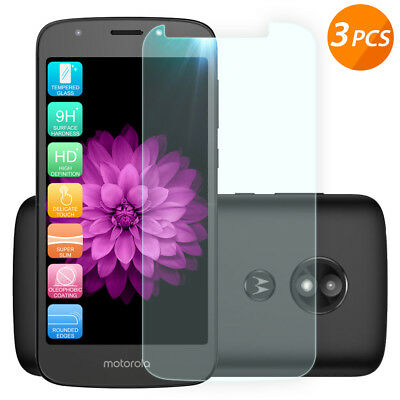 For Motorola Moto E5 Play/Cruise/Go 3-Pack Clear Tempered Glass Screen Protector