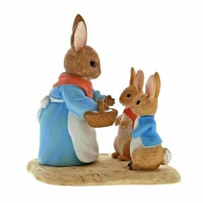 Beatrix Potter Mrs. Rabbit, Flopsy and Peter Mini Collectable Figurine - Boxed