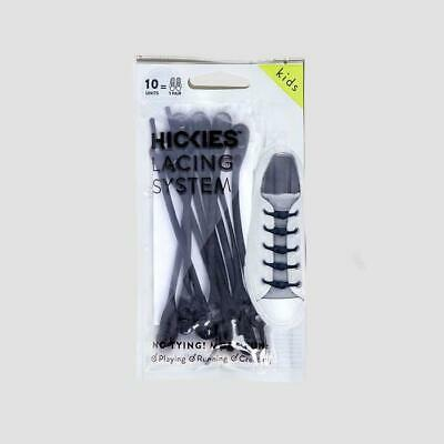 Hickies 2.0 Kids Shoe Lace Replacement System x10 No Tie Elastic Lacing   Black