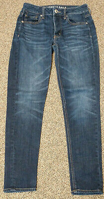 ba99eb1c543 WOMENS JUNIORS 00 AMERICAN EAGLE OUTFITTERS JEANS button fly TOMGIRL DENIM  EUC