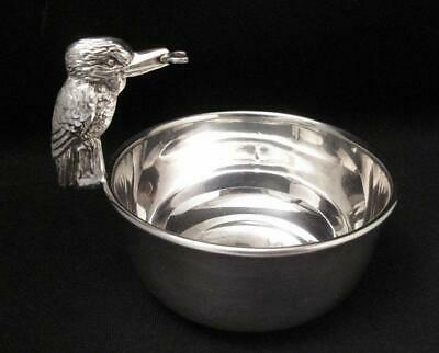 Antique Silver Plate Figural Kookaburra Sugar Bowl Art Deco Australiana