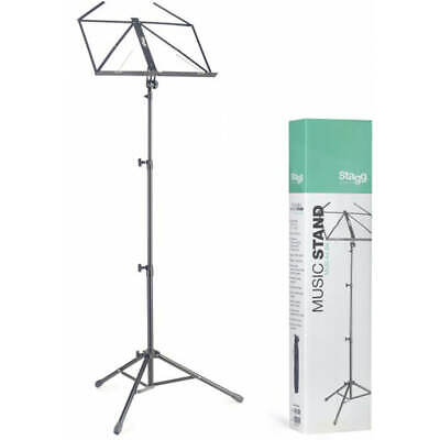 Stagg MUS-A4 BK Lyra Collapsible Tubular Music Stand - 3 Section