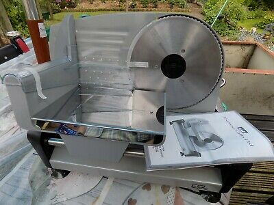 EGL Electric Meat Slicer, Stainless Steel Blade with Finger Guard Brand New Box