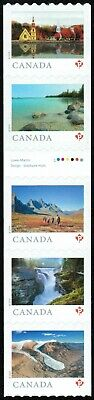 Canada sc#??? From Far and Wide 2019, Strip of 5 with Gutter Coil 100, Mint-NH