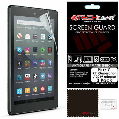 "2x TECHGEAR MATTE ANTI GLARE Screen Protectors Amazon Fire 7"" (9th Gen / 2019)"