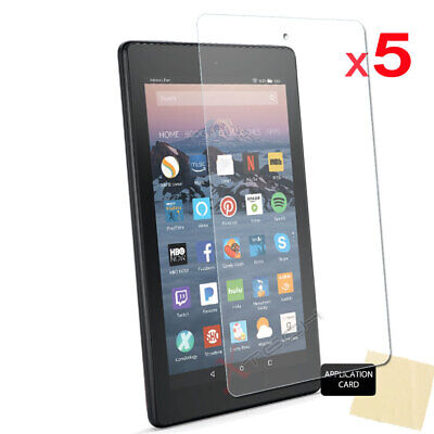 "5x CLEAR Screen Protector Covers for Amazon Fire 7"" 9th Generation 2019 Tablet"