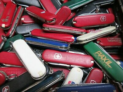 Lot of 10 Victorinox and Wenger Compact Swiss Army Knives