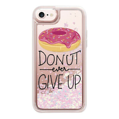 Casetify, Cover Per Apple iPhone 7/6S/6, Glitter Case, DONUT EVER GIVE UP