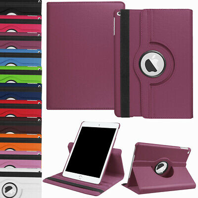 """For iPad 9.7 6th / 7th Generation 10.2"""" Rotating Leather Smart Stand Case Cover"""