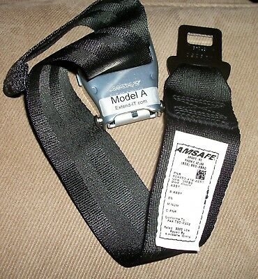 Extend-It Airline Seatbelt Extender. Model A Faa Certified +Case Amsafe