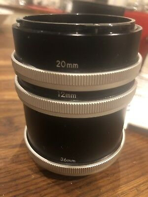 Vivitar Automatic Extension tube set 12mm, 20mm, 36mm In Good Condition