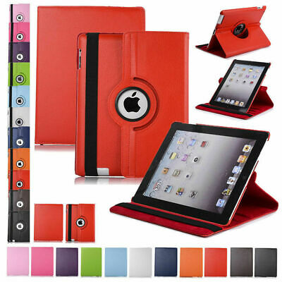 360 Rotating Leather Folio Case Cover Stand For Apple iPad 234 Mini 2 3 4 Air 23