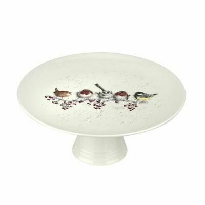 Wrendale By Royal Worcester - One Snowy Day Christmas Footed Cake Plate