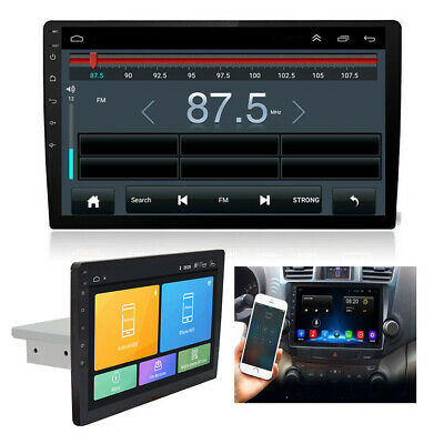 "HOT Single 1-Din Android 8.1 10""Car Stereo Radio GPS WiFi BT DAB Mirror Link OBD"