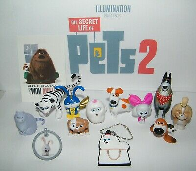 The Secret Life of Pets 2 Movie Figure Set of 10 Old / All New Characters Extras