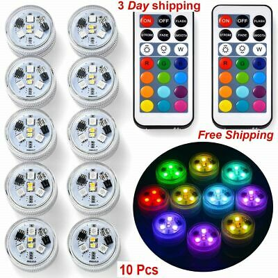 New10X Remote Control New Colored LED Light Boundary Style Waterproof EFX Accent