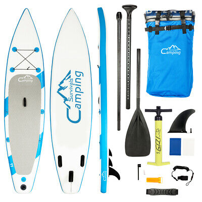 "11FT x 32"" Inflatable Stand Up Paddle Board SUP 2 in 1 Kayak Paddle Water Sports"