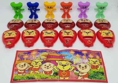 Kinder 2018, Year of the dog, China, SE330A-F, compl. set with all Bpz.