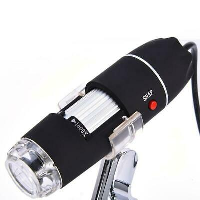 1600x Zoom Camera USB 8 LED Lights Magnifier Digital Microscope Stand Video Gift