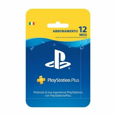 Sony PlayStation Plus Carta d'Abbonamento per 12 mesi