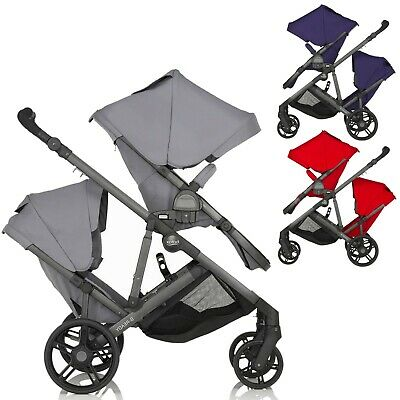 Britax BReady Tandem Double Twin Baby Buggy Pushchair Stroller 2 Seat From Birth