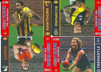 2019 afl teamcoach footy flipz card you choose your card