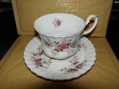 Royal Albert  Lavender  Rose   Breakfast   Teacup And Saucer  Vintage As Shown