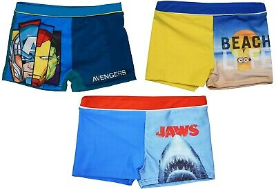 Official Boys Swimming Trunks Shorts Novelty Swim Beach Holiday - 2-8 Years