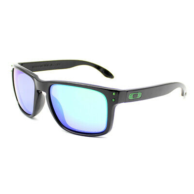 Fashion Sports Oakley Holbrook Polarized Sunglasses Polished Black Green Lens