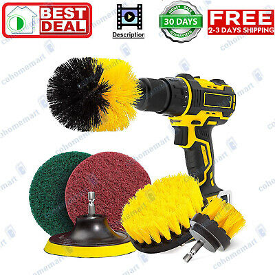 UZOPI 6 Piece Drill Brush Attachment Set All Purpose Power Scrubber Cleaning Kit