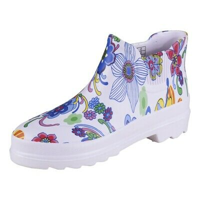 Camprella Women's Phylon short Boots Boots White/Colorful