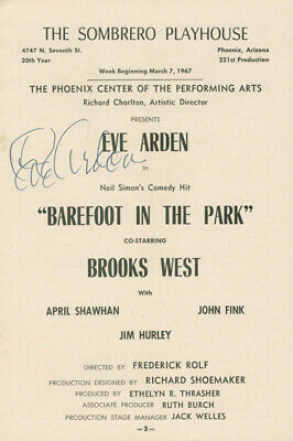 Eve Arden - Program Signed