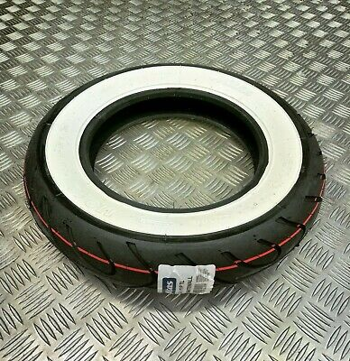 Mitas MC18 3.50 - 10 White Wall Scooter Race Soft Tyre LML Star Vespa PX Scooter