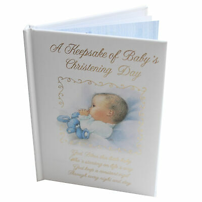 Baby Christening Record Book Keepsake Gift 14cmx10cm - Baby Boy