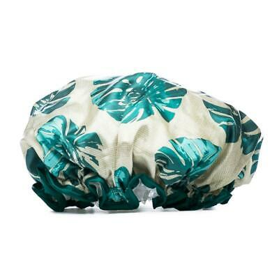 Tropical Palm Leaf Shower Cap Reusable Waterproof Bathing Pamper Long Hair Cover