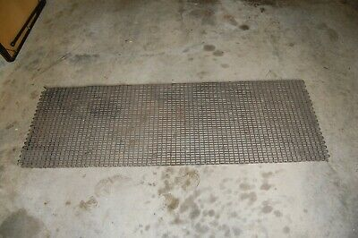"vintage 24"" by 69"" large steel chain machine shop floor mat"