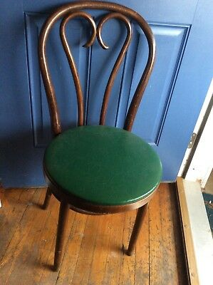 Vtg BENTWOOD BISTRO CHAIR thonet antique ice cream parlor Wood wooden Romania