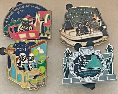 Disney Pin 90216 Star Wars in the Park Booster Set - Complete 4 pin set