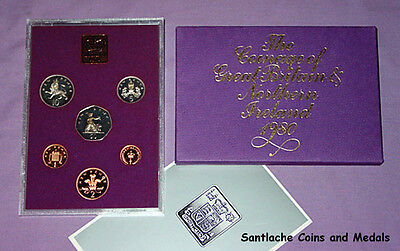 1980 Royal Mint Proof Set Of Coins For Gb & Ni