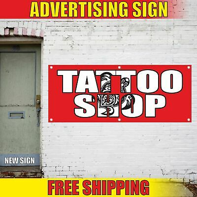 Custom Industrial Vinyl Banner Multiple Sizes Tattoo Art Style B Personalized Text Here Business Outdoor Weatherproof Yard Signs Pink 10 Grommets 48x120Inches