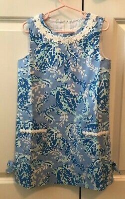 e08ced594d3efb NWT Lilly Pulitzer Little Lilly Classic Shift Blue Peri Turtley Awesome  Size 6