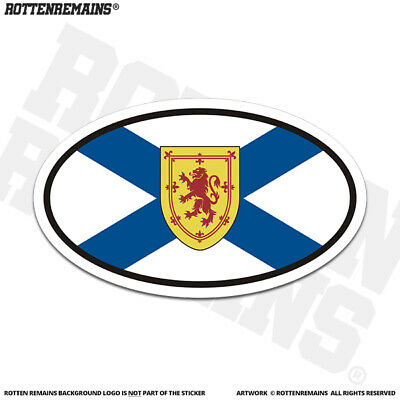 Nova Scotia Provincial Flag Oval Decal NS Euro Gloss Vinyl Sticker HGV